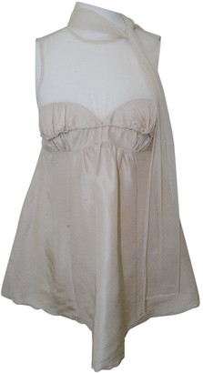 Tracy Reese Beige Silk Top for Women