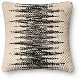"Loloi Jagged Center Decorative Pillow, 18"" x 18"""