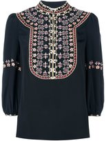 Vilshenko embroidered front blouse