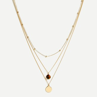 J.Crew Mixed three-layer necklace