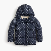 J.Crew Girls' polka-dot marshmallow puffer jacket
