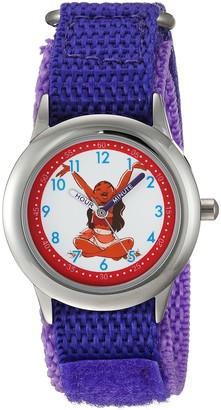 Disney Girls' Moana Stainless Steel Analog-Quartz Watch with Nylon Strap