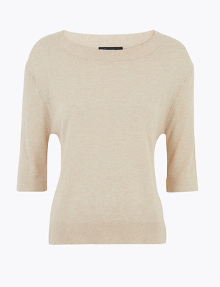 Marks and Spencer Linen Relaxed Knitted Top