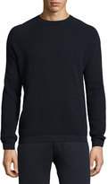 Theory Danen Textured-Knit Sweatshirt, Eclipse