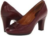 Clarks Society Disc (Burgundy Leather) - Footwear