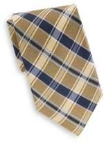 Saks Fifth Avenue Plaid Silk Tie