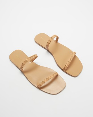 Billini - Women's Brown Flat Sandals - Thassos - Size 7 at The Iconic