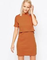 Glamorous High Neck Overlay Dress