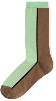 Ganni Colorblock Crew Socks