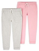 Carter's Child Of Mine By Child of Mine by Baby Toddler Girls French Terry Jogger Sweatpants, 2pk