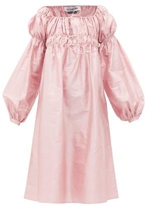 Àcheval Pampa Acheval Pampa - Antonia Off-the-shoulder Shantung-silk Dress - Womens - Pink