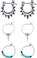 Accessorize 3x Marrakech Hoop Earrings