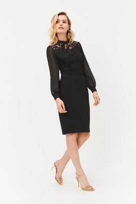 Coast Lace Bodice Midi Dress