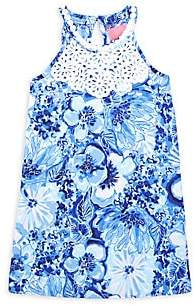 Lilly Pulitzer Little Girl's & Girl's Embroidered Floral Shift Dress