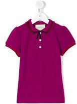 Gucci Kids GG Web bow polo shirt