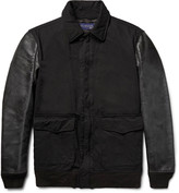 Junya Watanabe - Twill And Faux Washed-leather Jacket