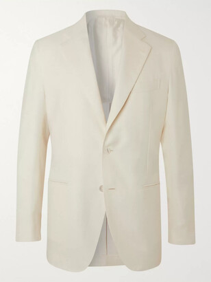 Slim-Fit Wool, Silk And Linen-Blend Suit Jacket