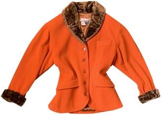 Kenzo Orange Wool Coat for Women Vintage
