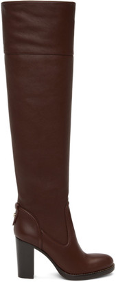 Chloé Purple Emma Tall Boots