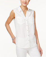 Maison Jules Sleeveless Shirt, Only at Macy's