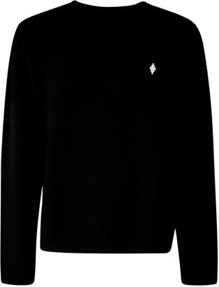 Marcelo Burlon County of Milan Mbcm Wool Regular Crewneck Sweater