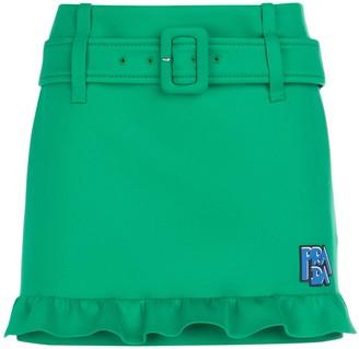 Prada Belted Strech Mini Skirt