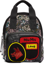 Miu Miu Multicolor Tapestry Backpack