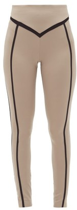 Ernest Leoty Corset High-rise Leggings - Black Beige