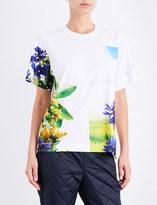 adidas by Stella McCartney Essentials Nature-print jersey T-shirt