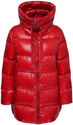 Max Mara Taffeta Nylon Zip Down Jacket