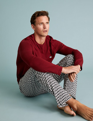 Marks and Spencer Pure Cotton Badger Geo Print Pyjama Set
