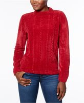 Alfred Dunner Beaded Chenille Sweater