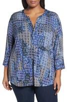 NYDJ Plus Size Women's Henley Knit Top