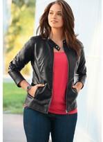 Taillissime Faux Leather Biker Jacket