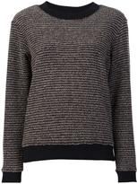 Sonia Rykiel round neck striped jumper - women - Wool/Polyamide-8 - M