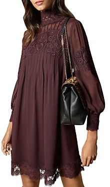 Ted Baker Anneah High Neck Lace-Inset Tunic Dress