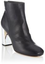 Faith Metalic Block Heel Ankle Boots