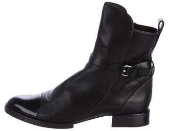 Alexander Wang Leather Cap-Toe Ankle Boots