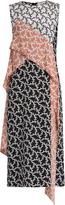 Diane von Furstenberg Contrast-panel silk dress