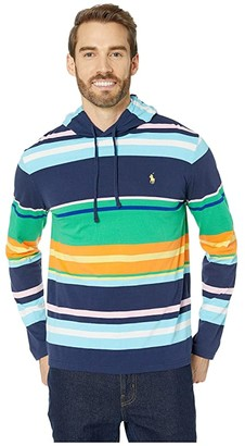 Polo Ralph Lauren Long Sleeve Hooded Tees (Beach Stripe) Men's T Shirt