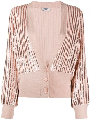 Liu Jo sequin-embroidered V-neck cardigan