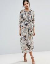 d.RA Queen's Garden Midi Dress