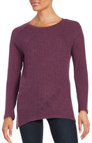 Splendid Crewneck Waffle-Knit Sweater