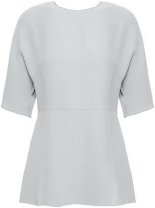 Valentino Silk-crepe Peplum Top