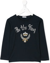 Dolce & Gabbana Be The King embroidered top - kids - Cotton - 3 yrs