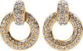 One Kings Lane Vintage Chanel Rhinestone Gold Hoop Earrings
