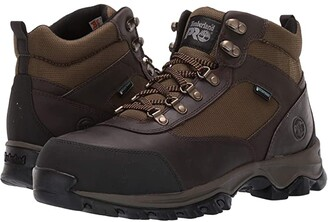 Timberland Keele Ridge Work Steel Safety Toe (Brown Nubuck Leather) Men's Work Boots