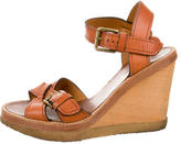 Isabel Marant Leather Crossover Wedges