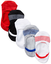 Steve Madden Athletic No Show Striped Footies - Pack of 5