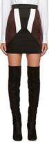 Neil Barrett Black Colorblocked Miniskirt